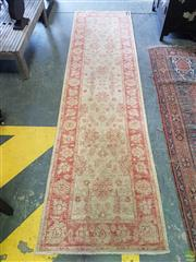 Sale 8585 - Lot 1733 - Indian Hand Knotted Woollen Hall Runner (300 x 80cm)