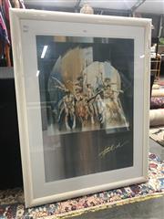 Sale 9011 - Lot 2056 - Charles Billich Framed Poster (120 x 84cm)