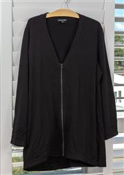 Sale 9023H - Lot 100 - An Eileen Fisher zip up jacket in black; size L