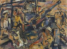 Sale 9118A - Lot 5039 - Pham Luc (1943 - ) - The Vietnamese War, 1972 78 x 93.5 cm