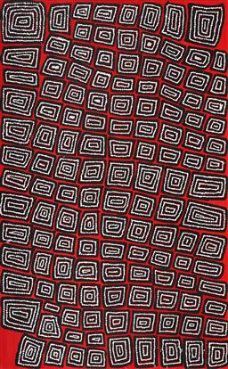 Sale 9128A - Lot 5064 - Thomas Tjapaltjarri (c1964 - ) - Tingari 153 x 95 cm (stretched and ready to hang)