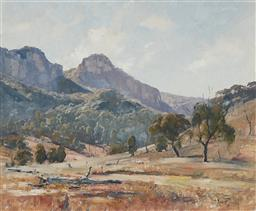 Sale 9161 - Lot 519 - ROBERT JOHNSON (1890 - 1964) Morning in the Valley oil on board 45 x 55 cm (frame: 62 x 72 x 6 cm) signed lower right. Provenance: E...