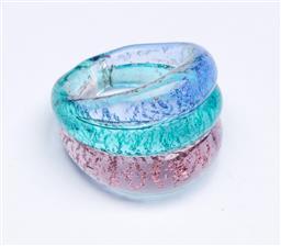 Sale 9148 - Lot 79 - An MCM Venetian glass three colour dress ring
