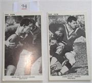 Sale 8404S - Lot 94 - Others The Sun Footy Cards 1967 – Kevin Junee (Easts), Laurie Fagan (Penrith)