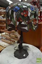 Sale 8480 - Lot 1101 - Dragonfly Leadlight Table Lamp