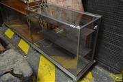 Sale 8520 - Lot 1068 - An Early Chrome Display Cabinet with Two Shelves and Claw Feet
