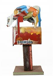 Sale 8597 - Lot 552 - Jeff Thomson (1957 - ) - Letterbox 106cm (height)