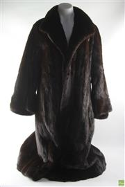 Sale 8586 - Lot 10 - Black Mink Fashion Coat ( Size 8-10)