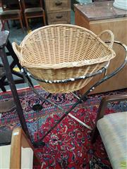 Sale 8601 - Lot 1538 - Wicker Washing Basket on Stand