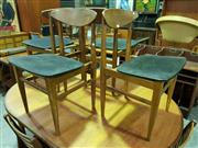 Sale 8661 - Lot 1042 - Set of Four 1960s Retro Teak Dining Chairs