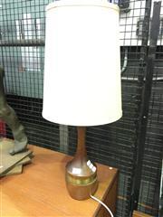 Sale 8643 - Lot 1077 - Timber Base Side Lamp