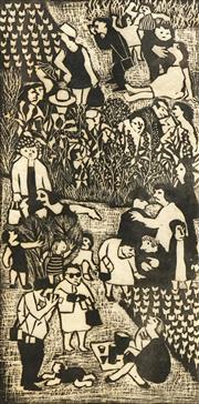 Sale 8711 - Lot 2010A - Joyce Allen (1916 - 1992) (2 works) - God Wot! 1972; Swings & Roundabouts, 1973 22.5 x 46cm; 34.5 x 24cm