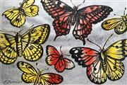 Sale 8713 - Lot 552 - David Bromley (1960 - ) - Butterflies 75 x 112cm