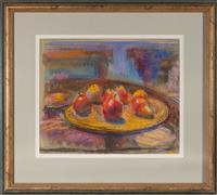 Sale 8735 - Lot 69 - Nora Heysen, Still life Pears, pastel on board, signed lower right dated 1997 lower left, 34 x 42