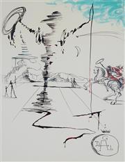 Sale 8985A - Lot 5026 - Salvador Dali (1904 - 1989) - Chevalier 76 x 57 cm (frame: 104 x 87 x 3 cm)