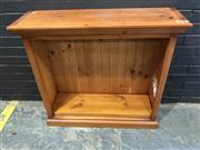 Sale 8988 - Lot 1051 - Pine Open Bookshelf (H:90 W:98 D:31cm)