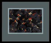 Sale 9023H - Lot 77 - DAVID ASPDEN Black Music 2004 for Karen Acrylic on paper monogrammed LR with triangle, 41.5x59cm total frame size 77 x 92.5cm  Pr...