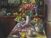 Sale 9042A - Lot 5083 - Margaret Olley (1923 - 2011) - Ranunculus & Pears 50 x 68 cm (frame: 82 x 98 x 3 cm)