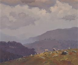 Sale 9161A - Lot 5014 - WARWICK FULLER (1948 - ) - Welcome Storms, Canberra, 1983 37 x 44.5 cm (frame: 52 x 60 x 5 cm)
