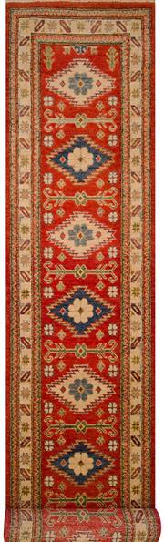 Sale 8447C - Lot 89 - Afghan Kazak Runner 390cm x 75cm