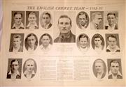 Sale 8460C - Lot 56 - Sydney Mail, Double page, Wednesday October 19, 1932, The English Cricket Team 1932–33 (Bodyline). Very good.