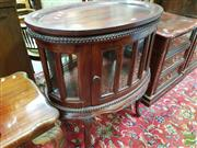 Sale 8465 - Lot 1042 - Timber Cake Cabinet with Butlers Tray