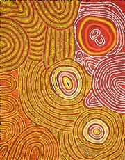 Sale 8642A - Lot 5040 - Marlene Young Nungurrayi (1973 - ) - Minyma Tjukurrpa 91 x 71cm