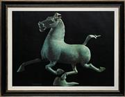 Sale 8666A - Lot 5041 - Derrick Witty - The Flying Horse of Kansu 70 x 90cm