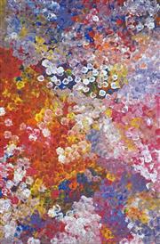 Sale 8773 - Lot 521 - Polly Ngale (c1936 - ) - Bush Plum 145 x 96cm