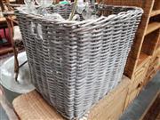 Sale 8912 - Lot 1067 - Large Cane Basket (W:65cm, H:65cm, L:65cm)