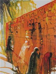 Sale 8985A - Lot 5027 - Salvador Dali (1904 - 1989) - The Wailing Wall 69 x 51 cm (frame: 113 x 87 x 3 cm)