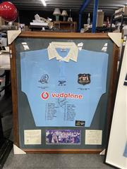 Sale 8990 - Lot 2084 - Framed Wallabys 100 yr Anniversary Jumper