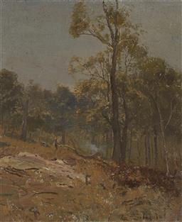 Sale 9161A - Lot 5015 - LANCE SOLOMON (1913 -1989) - Landscape at Lisarow 44.5 x 37 cm (frame: 62 x 54 x 5 cm)