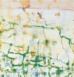 Sale 9212A - Lot 5005 - JOHN OLSEN (1928 - ) - Lily Trotters, 1997 64.5 x 62 cm (sheet: 77 x 68 cm)