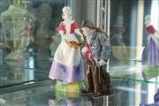 Sale 8339 - Lot 7 - Royal Doulton Figure Dawn with a Coalport Figure of a Traveller