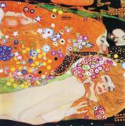 Sale 8492A - Lot 5070 - Gustav Klimt (1862 - 1918) - Water Serpents 43 x 43cm (frame size: 63 x 63cm)