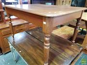 Sale 8485 - Lot 1074 - Small Late 19th Century Cedar Dining Table, on turned legs