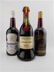 Sale 8514W - Lot 91 - 3x Bottles - 1x Miramar Vintage Port, Hunter Valley; 1x Pieter van Gent Pipeclay Vermouth, Mudgee; 1x Montorse Blackberry Nip, Mudgee