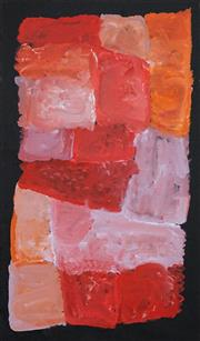 Sale 8696 - Lot 506 - Kudditji Kngwarreye (c1928 - 2017) - My Country 89 x 52cm (stretched and ready to hang)