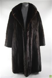 Sale 8586 - Lot 65 - Bernard Hammerman Black Mink Coat ( Size 8-10)