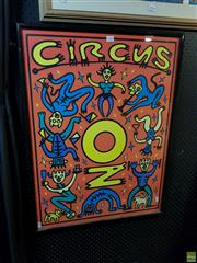 Sale 8613 - Lot 2088 - Circus Oz, poster by Michael Callaghan, 83.5 x 63cm (frame size)