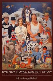 Sale 8696A - Lot 5071 - Frank Knight (1941 - ) - Sydney Royal Easter Show: A New Home for the Bush 78 x 51.5cm