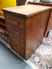 Sale 8688 - Lot 1027 - Small Maple 4 Drawer Bedside
