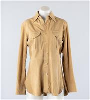 Sale 8891F - Lot 29 - A Ralph Lauren nubuck suede safari jacket with twin pleated pockets, size 6
