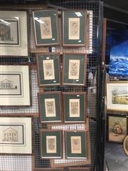 Sale 8751 - Lot 2076 - 10 Framed Heraldry Coat of Arms