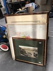 Sale 8789 - Lot 2140 - Group of Assorted Decorative Prints including a European hand-coloured etching, a lithograph and a black and white photo of Mosman...