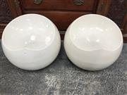 Sale 8822 - Lot 1246 - Pair of Modern Tub Stools