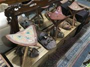 Sale 8851 - Lot 1085 - Set of 3 Tri Leg Stools