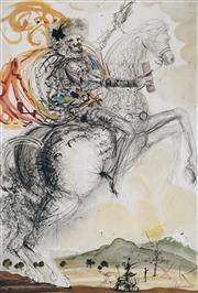 Sale 8985A - Lot 5028 - Salvador Dali (1904 - 1989) - El Cid 76 x 56 cm (frame: 113 x 87 x 4 cm)