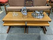 Sale 9002 - Lot 1090 - Danish Teak Nest of Tables (h:41 x w:120 d:48cm)